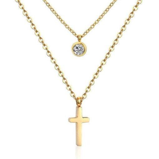 collier croix cadeau