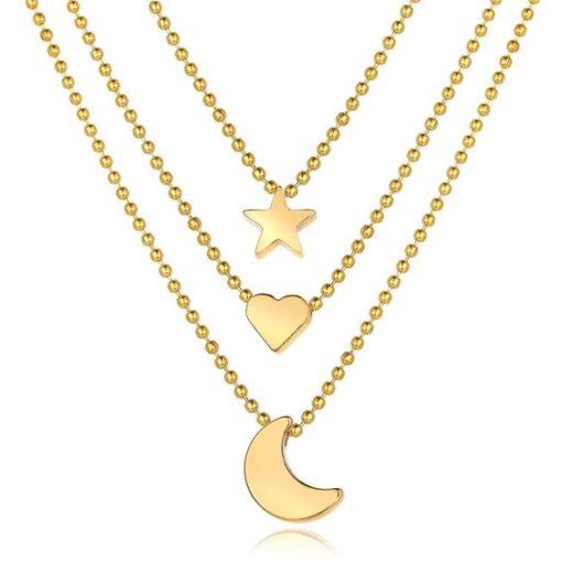 collier lune cadeau