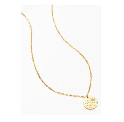 collier oeil medaille