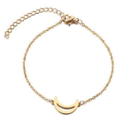 bracelet lune dore