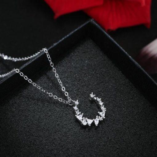 collier lune argent cadeau femme