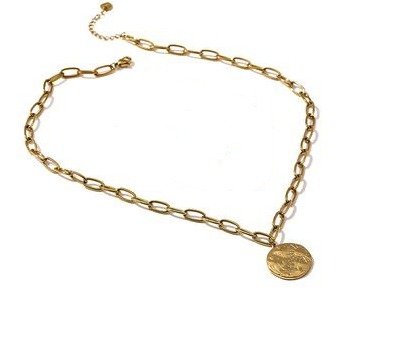 Collier maillons medaille
