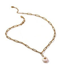 Collier maillons pendentif tendance