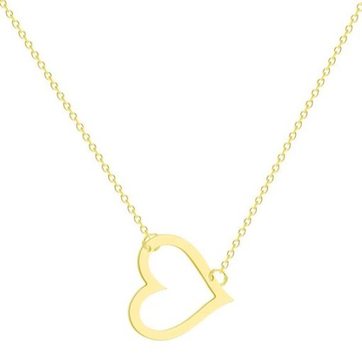 collier coeur tendance