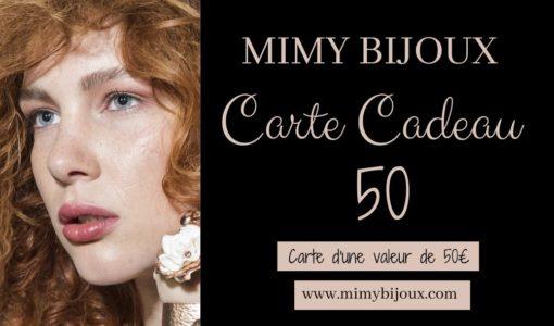 carte cadeau bijoux 50 euros