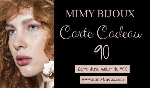 bijoux carte cadeau 90 euros