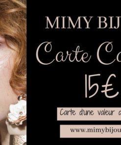carte cadeau bijoux 15 euros