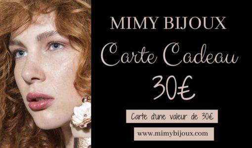 carte cadeau bijoux 30 euros