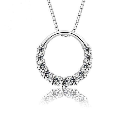 collier pendentif cercle argent