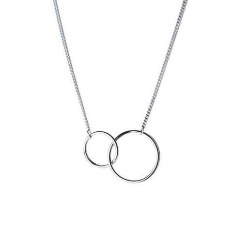 collier cercles argent 925