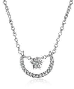 collier demi lune argent 925