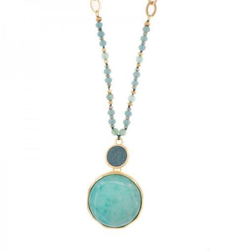 sautoir pendentif turquoise