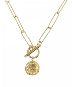 collier grosse maill dore
