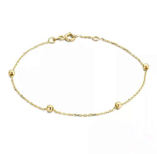 bracelet boule plaque or