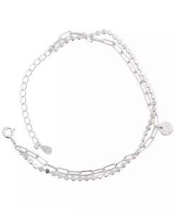 bracelet multirangs argent cadeau