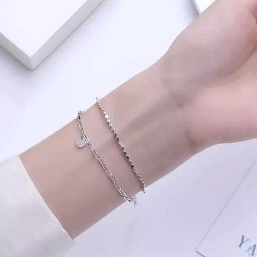 bracelet multirangs argent tendance