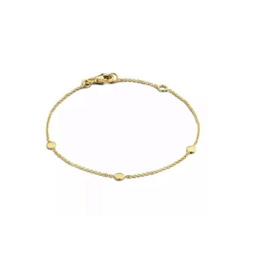 bracelet pastilles plaque or