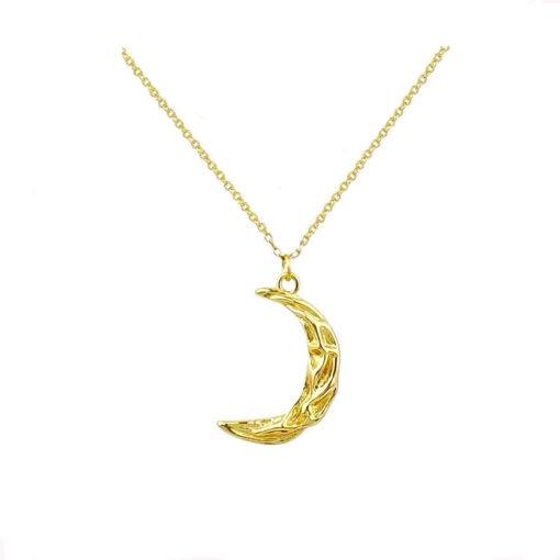 collier lune original or