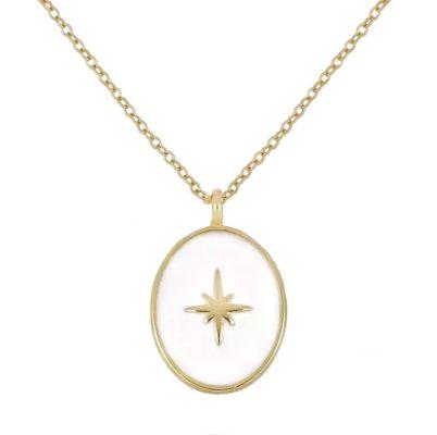collier medaille or cadeau original
