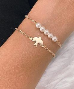 bracelet fantaisie avec perle