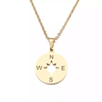 collier boussole or