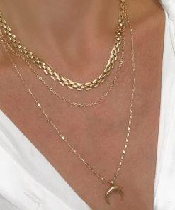 collier multirangs cadeau tendance